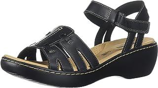 Clarks Women's Delana Nila Platform, Black Leather, 7 B(M) US
