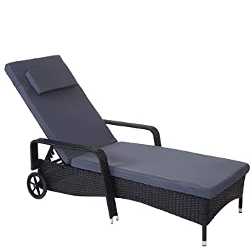 Amazon De Mendler Poly Rattan Sonnenliege Carrara Relaxliege