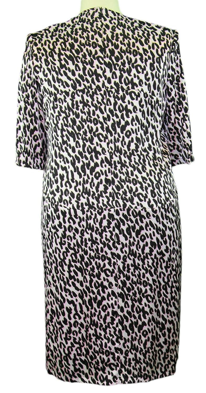 Marina Rinaldi by MaxMara Nixon Pink Animal Print V-Neck Dress at Amazon Womens Clothing store:
