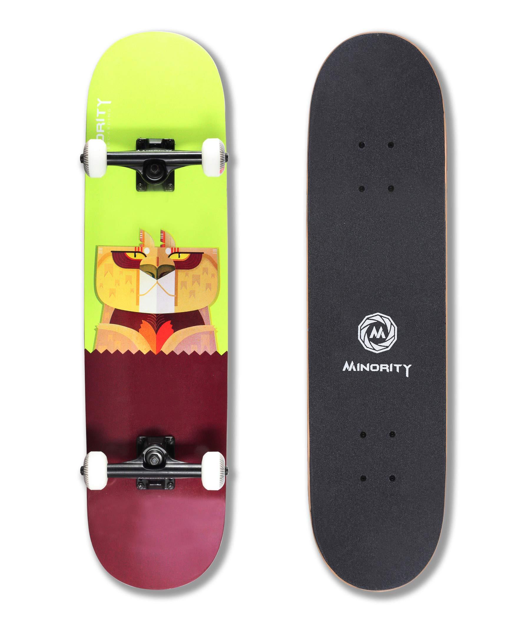 MINORITY 32inch Maple Skateboard (Cheetah) by MINORITY
