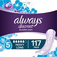 Always Discreet Incontinence Pads for Women, Maximum Absorbency, Long Length, 39...