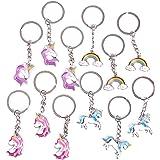 Unicorn Keychains (4 Designs, 12 Pack)