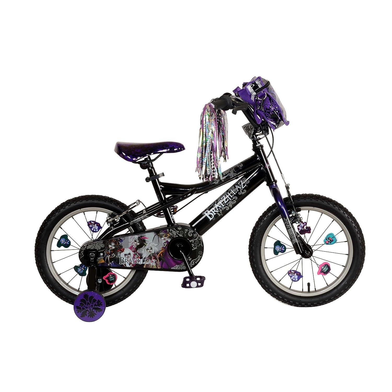 Bratz Kid's Bike, 16 inch Wheels, 11 inch Frame, Girl's Bike, Black/Purple by Bratz B00H7VGXNS