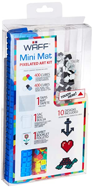 Amazon Com Waff Mini Mat Set With 800 Cubes Blue Toys Games
