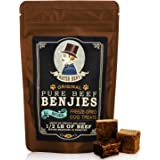 Mister Bens Original Premium Pure Beef Benjies - Freeze Dried 100% Beef Dog Treats - Only 1 Ingredient - All Natural Luxury Beef Liver Snacks for Dogs - Approximately 60 Treats (Small Bag)