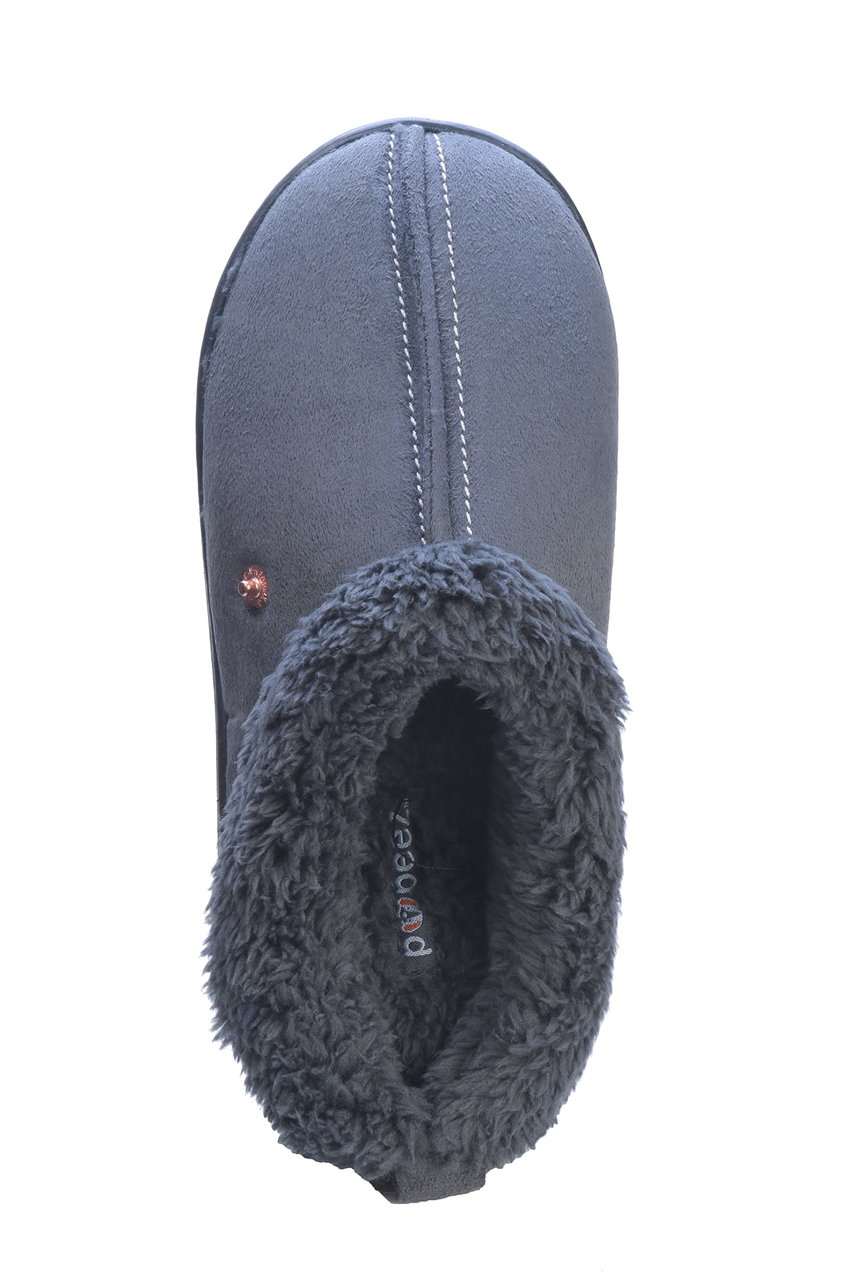 Pupeez Boys Extra Comfort and Warmth Kids Bedroom Slippers, 2-3 M US Little Kid, Gray by Pupeez (Image #3)