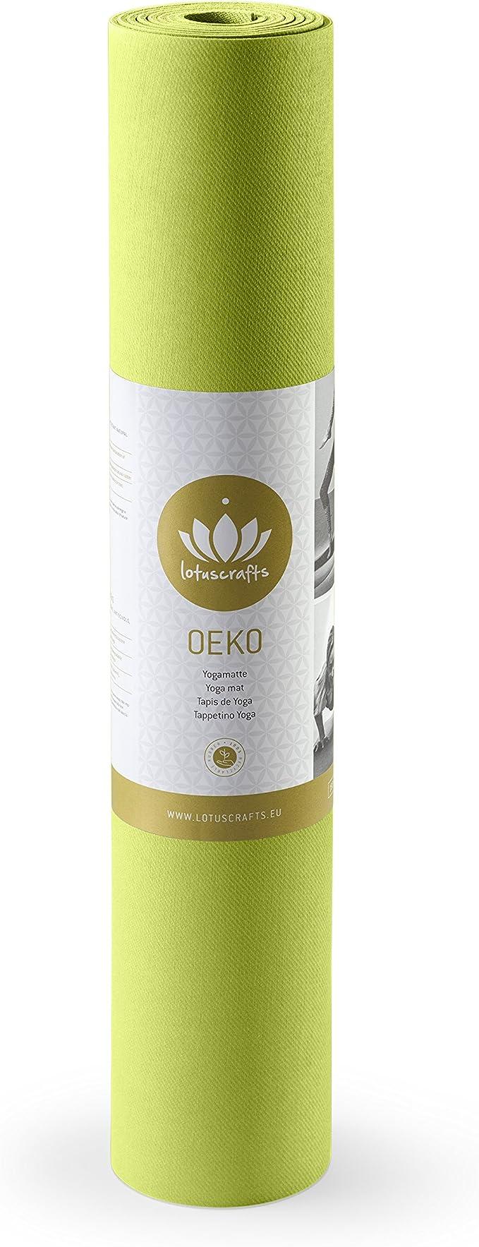 Lotuscrafts Tapis de Yoga Oeko antid/érapant Caoutchouc Naturel Biologique id/éal pour Le Yoga Ashtanga et Vinyasa Flow