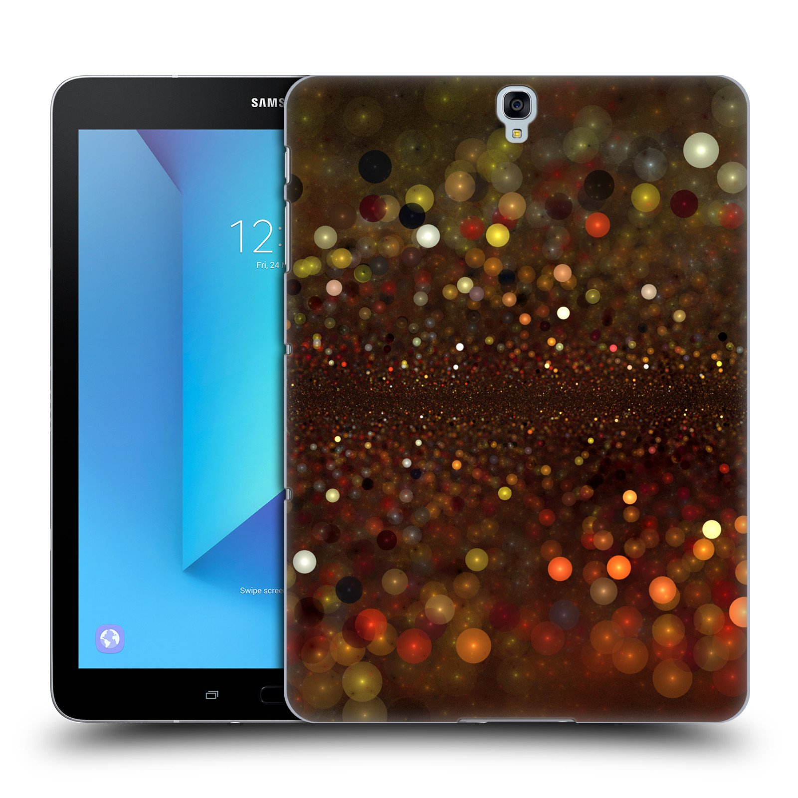 Official Andi GreyScale Follow the Sparkly Trail Solar Bokeh Hard Back Case for Samsung Galaxy Tab S3 9.7
