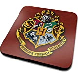 Harry Potter Hogwarts Crest Official Drinks Coaster Protective Melamine Cover with Cork Base, Multi-Colour, 10 x 10 cm