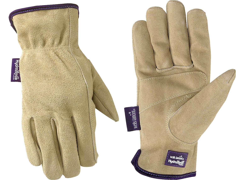 c1b8e5c930d85 Wells Lamont Women's HydraHyde Slip-On Full Split Leather Work Gloves,  Medium (1003M) - - Amazon.com