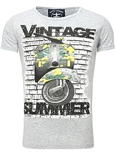 Akito Tanaka T-Shirt Printshirt Herren Vintage Summer Männer Rundhals  Roller Scooter Motiv ea52df5a51