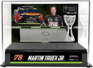 Martin Truex Jr. Furniture Row Racing 2017 NASCAR Cup Series Champion 1:24 Die Cast Display Case with Sublimated Plate - Nascar Display Cases Logo