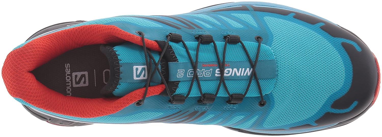 Salomon Women's Wings Pro 2 W-W Trail Runner B017UT0M6K 9 B(M) US|Blue Jay/Fog Blue/Lava Orange
