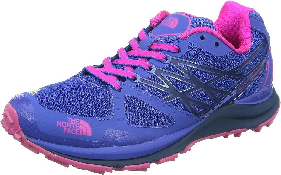 The North Face W Ultra Cardiac, Zapatillas de Trail Running para Mujer, Azul/Rosa, 36 EU: Amazon.es: Zapatos y complementos