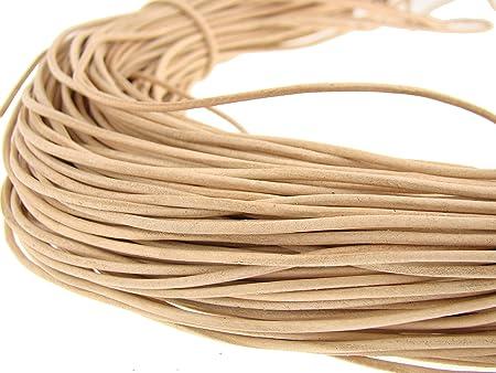 50 mètres cordon cuir  lacet cuir marron Ø 1,5 mm