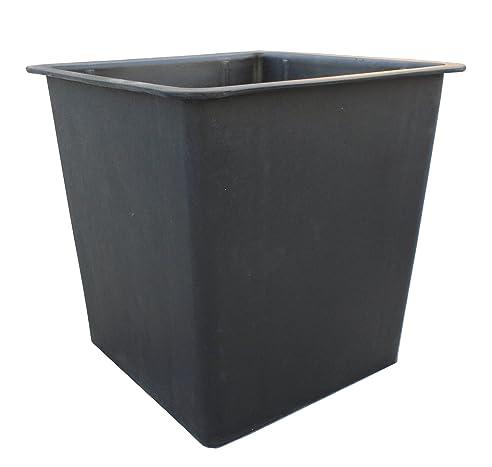 Gartenfreude Pflanzkübel Einsatz, schwarz, 26 x 26 x 24 cm, 4350 ...