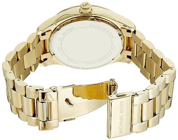 World Map Watch Michael Kors.Amazon Com Michael Kors Women S Layton Gold Tone Watch Mk5959