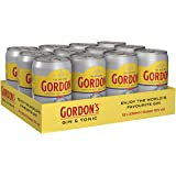 Gordon's London Dry Gin & Tonic Water Mix-Getränk (12 x 0.33 l)