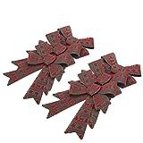 iPEGTOP 6 Pack Christmas Bows Holiday