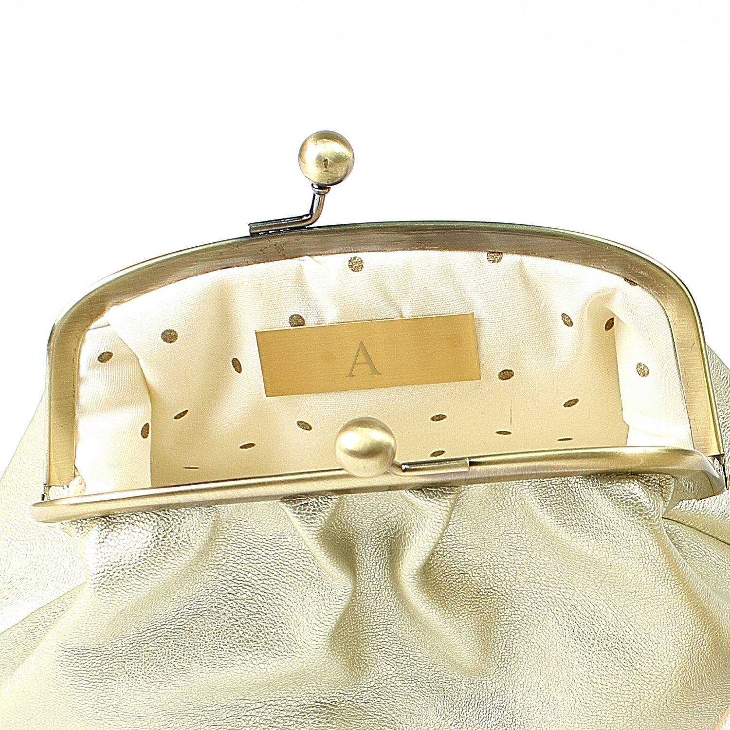 Amazon.com: Cathys Concepts Personalized Vintage Clutch with Survival Kit, Gold, Letter M: Arts, Crafts & Sewing