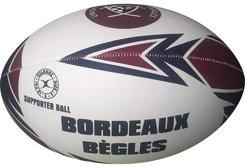 Burdeos Bègles de balón de Rugby Oficial - Gilbert - Talla 5 ...