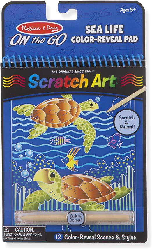 Melissa /& Doug On The Go Scratch Art Color Reveal Activity Pad Dinosaurs