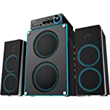 Arion Legacy Deep Sonar 550 Extreme Clarity Large Size 2.1 PC Speakers with Dual Subwoofers and Control Box Connects TV, Headphone, Microphone and Charges USB Devices