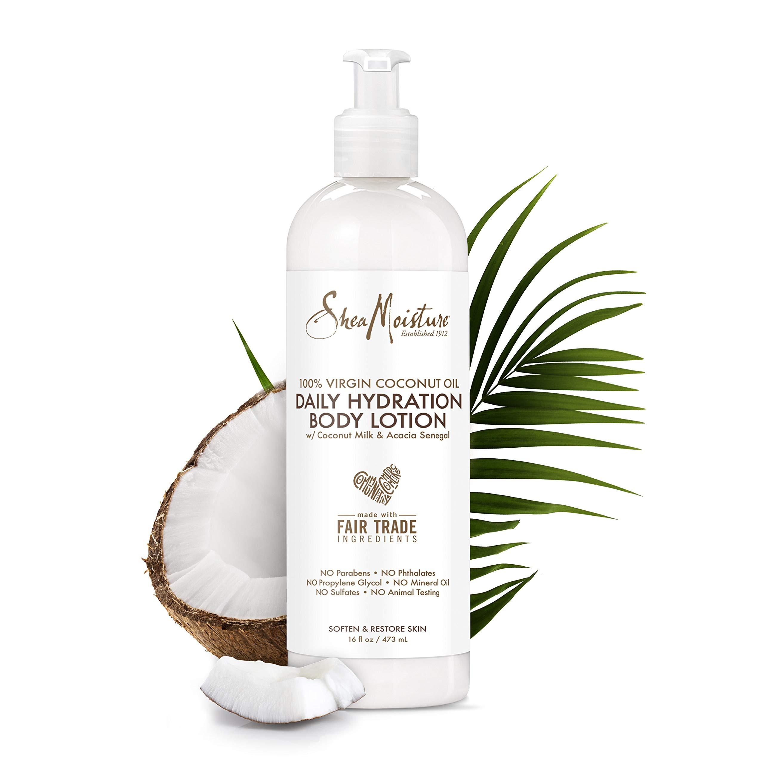 SheaMoisture 100% Virgin Coconut Oil Daily Hydration Body Lotion, 16 Ounces by Shea Moisture
