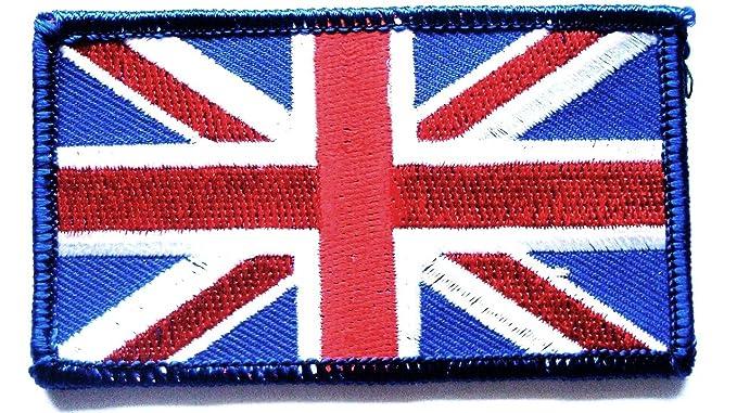 2x BRITISH GB UK UNION JACK FLAG Embroidered Sew Iron On Cloth Patch Badge
