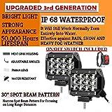 EASEZAP 36W CREE Fog LAMP Heavy Duty 12 Led Fog Light/Work Light Bar Spot BeamSET of 2