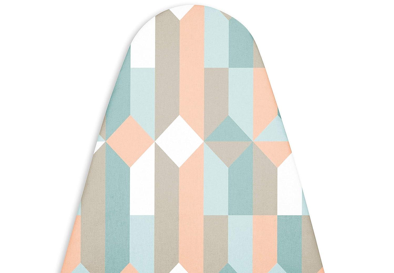 Encasa Homes Copri asse da stiro 'Linea di lusso' con imbottitura extra spessa (Per tavole di lunghezza 109-114 cm e larghezza 30-35 cm) Blocchi IB-60139-M