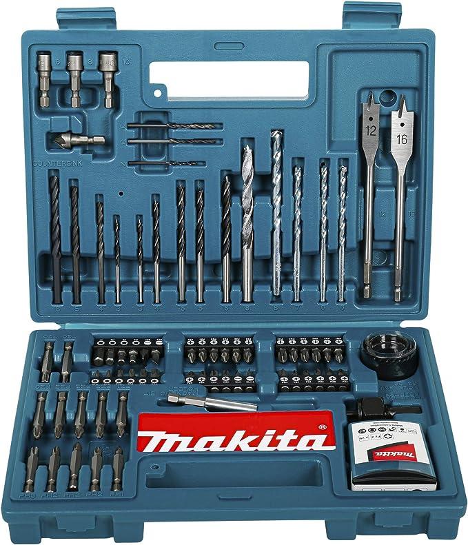 Set of 100 Makita B-53811 Drill /& Screwdriver Bit Accessory Set 100 Piece Multi-Colour