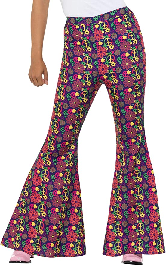 1900s, 1910s, WW1, Titanic Costumes Smiffys 60s Psychedelic CND Flared Trousers Ladies £11.51 AT vintagedancer.com
