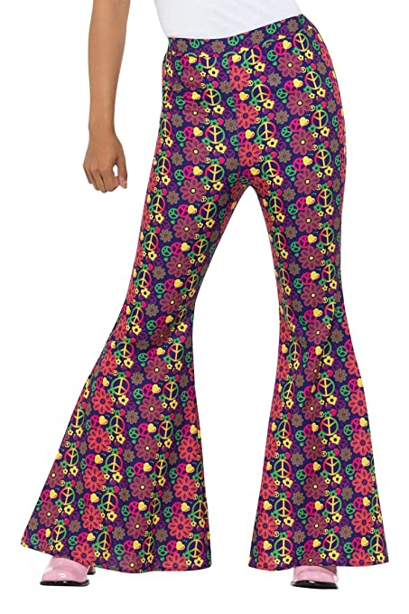 Hippie Costumes, Hippie Outfits Smiffys 60s Psychedelic CND Flared Trousers Ladies $32.00 AT vintagedancer.com