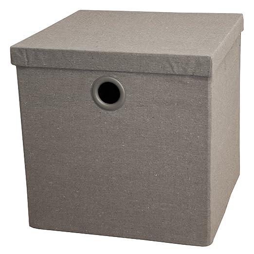 9 opinioni per Alpha Box- Scatola guardaroba pieghevole con coperchio- Colore Grigio-