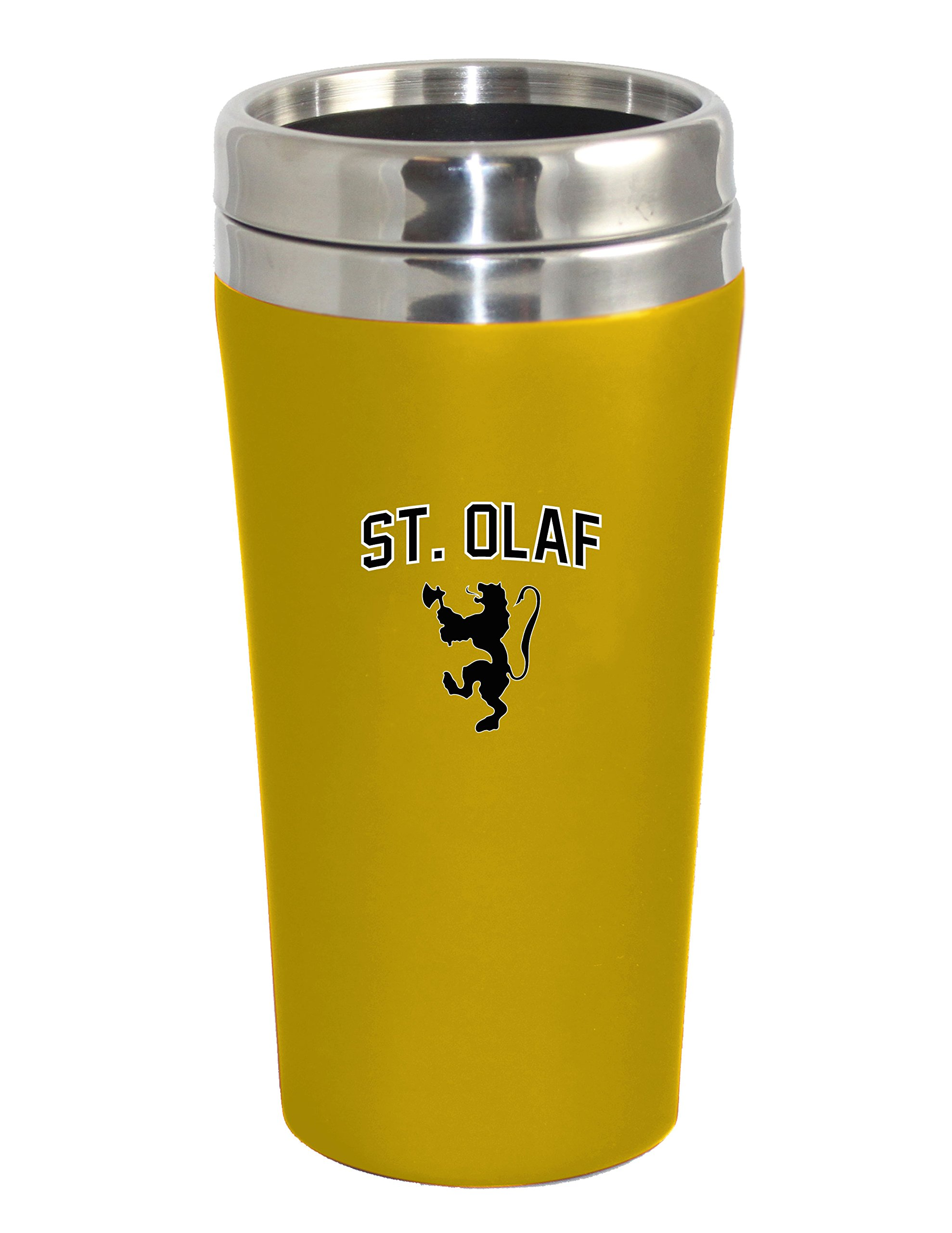 The Fanatic Group St. Olaf College Double Walled Travel Tumbler, Design 1 - Gold