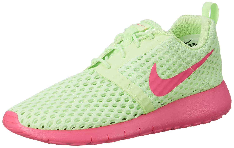 NIKE Roshe One Flight Weight (GS) Youth Sneaker B005IGL44M 4.5 M US|Ghost Green/Pink Blast