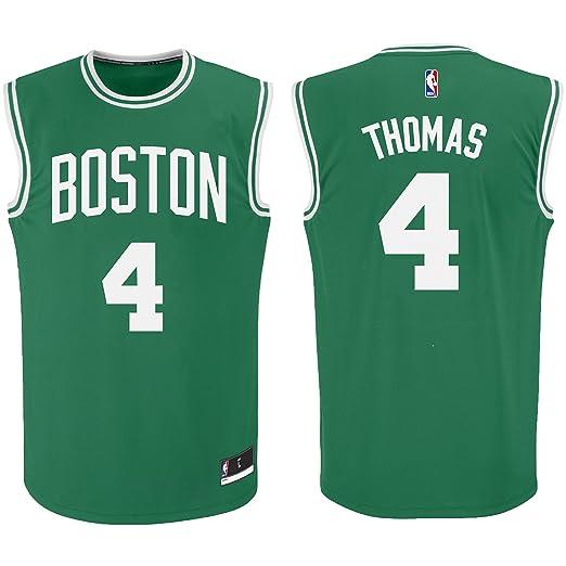promo code bbe18 5b385 Amazon.com: Isaiah Thomas Boston Celtics #4 Green Youth ...