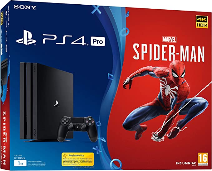 PlayStation 4 (PS4) - Consola Pro + Marvels Spider - Man: Sony ...