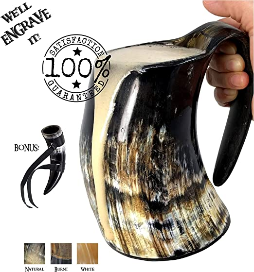 Viking Drinking Horn Cups Steins Mugs For Beer Wine Mead Ale GOT Medieval Design