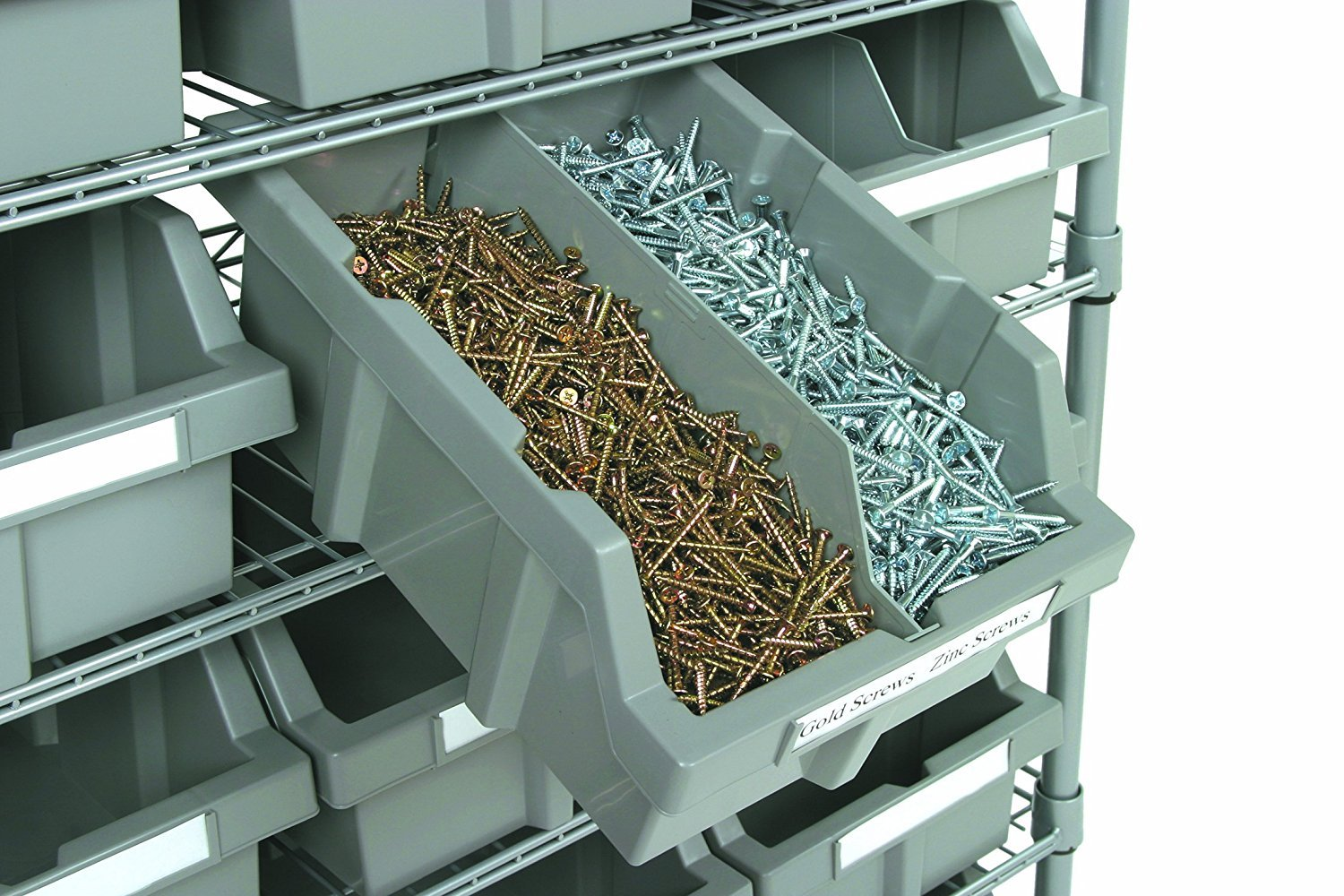 Seville Classics Commercial 7-Tier Platinum/Gray NSF 16-Bin Rack Storage System by Seville Classics (Image #5)