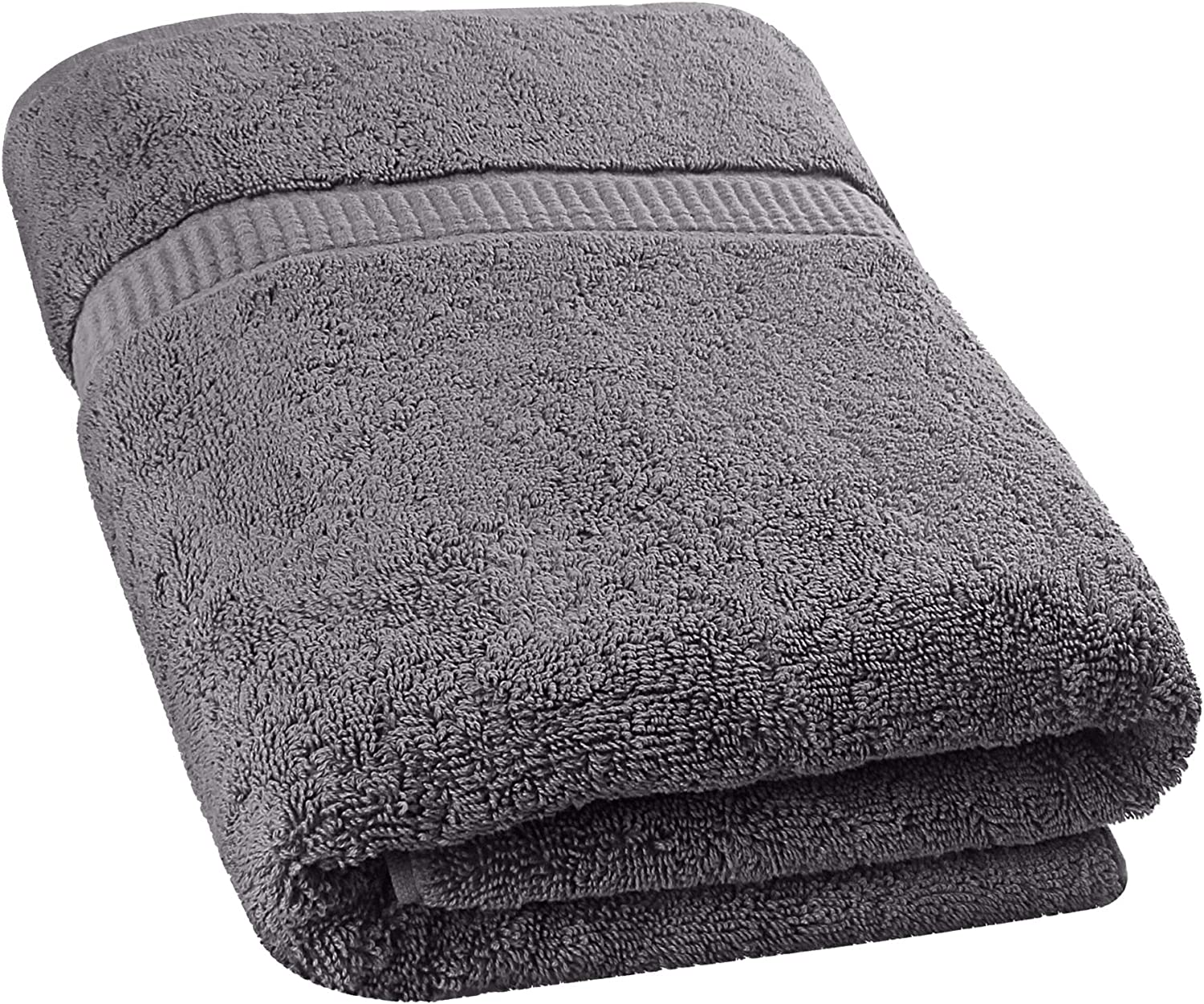 Utopia Towels - Luxurious Jumbo Bath Sheet (35 x 70 Inches, Grey) - 600 GSM 100% Ring Spun Cotton Highly Absorbent and Quick Dry Extra Large Bath Towel - Super Soft Hotel Quality Towel (2-Pack): Home & Kitchen