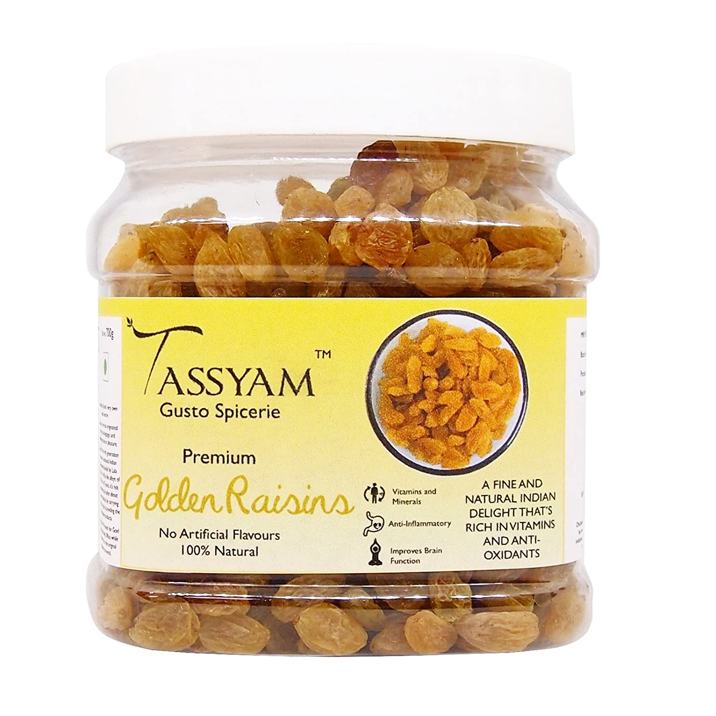 Tassyam Golden Raisins Healthy Juicy Jumbo Indian Kishmish