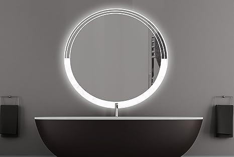 Napoli specchio rotondo con led illuminazione bagno specchio
