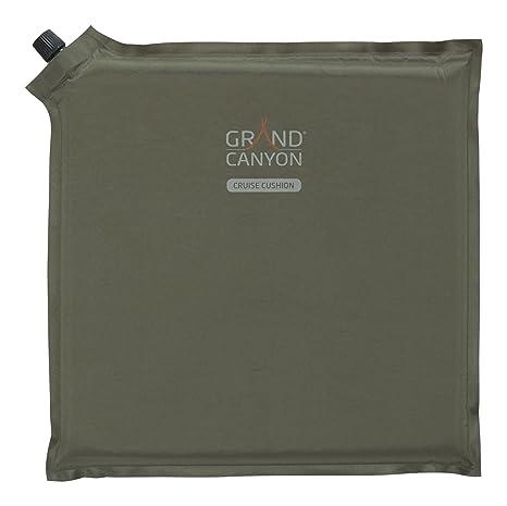 GRAND CANYON Cruise - Cojín – almohada o cojín para sentarse autohinchable , 30 x 30 x 3 cm, naranja, 305009