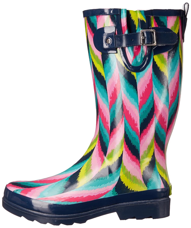 Western Chief Women's Waterproof B01798K280 Printed Tall Rain Boot B01798K280 Waterproof 10 B(M) US|Ikat Twist f9e6e2