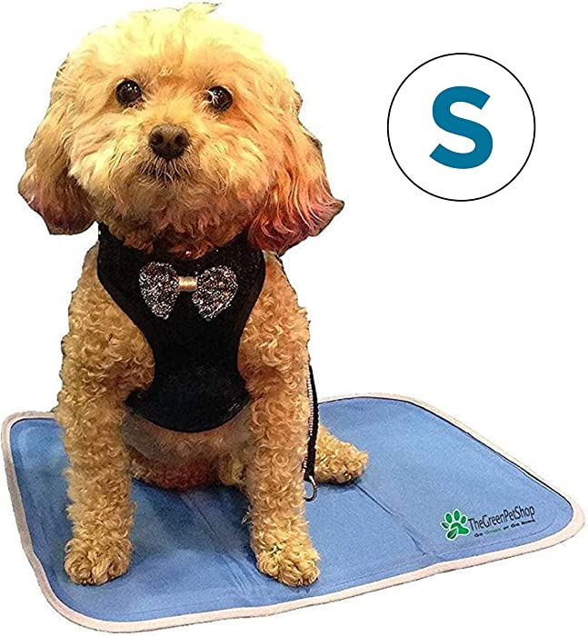 TheGreenPetShop Dog Cooling Mat – Gel Self Cooling Mat for Dogs – The Must-Have Cool Pet Pad for Hot Summer Weather – Patented Pressure Activated Pet Cooling Pad, No Water or Electricity Needed