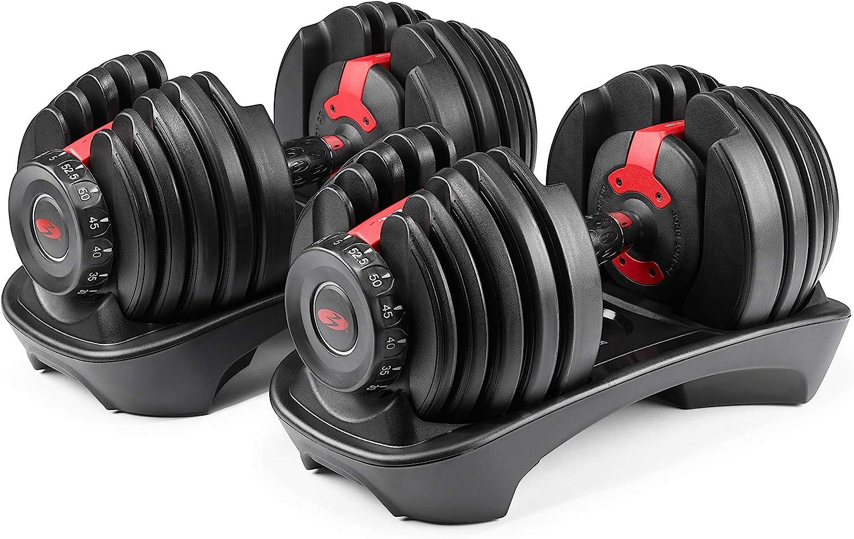 Amazon.com : Bowflex SelectTech 552 Version 2 | Two Adjustable Medium Dumbbells | Black, Red & Grey : Bowflex Dumbells : Sports & Outdoors
