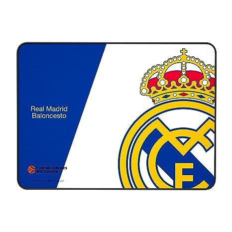 Alfombrilla Real Madrid para PC-(RM,Superficie de Tela Avanzada, Base de