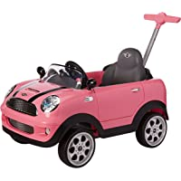 Prinsel Vehículo de Empuje Mini Cooper, color Rosa